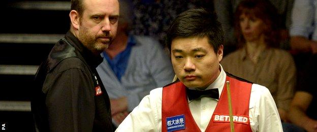 Mark Williams and Ding Junhui