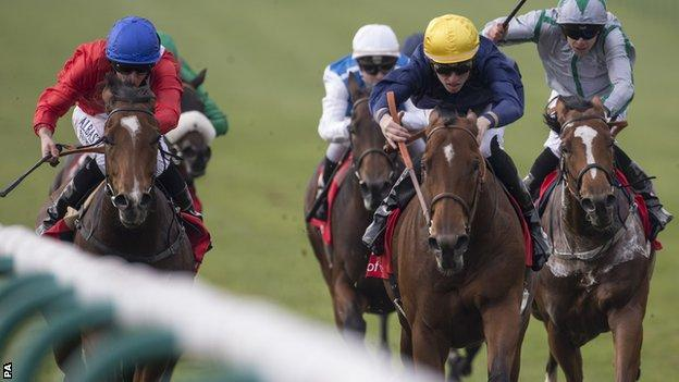 Esoterique beats Integral in the Sun Shariot stakes