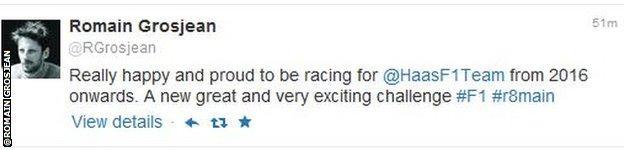 Romain Grosjean twitter