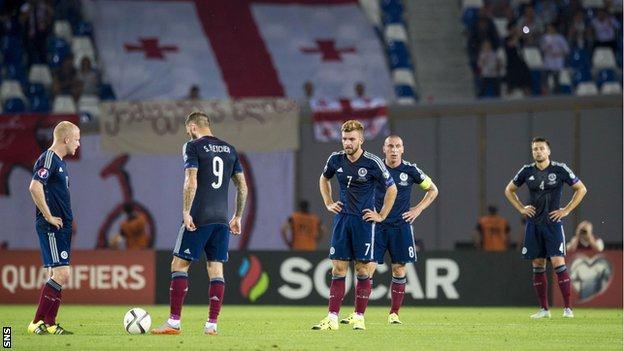 Scotland look shell-shocked in Georgia