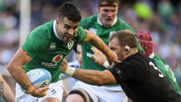 Conor Murray scored a try in Ireland's historic 40-29 win over New Zealand in Chicago