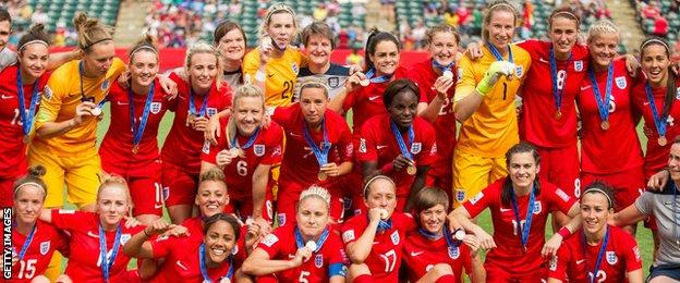 England's bronze-medal-winning World Cup squad