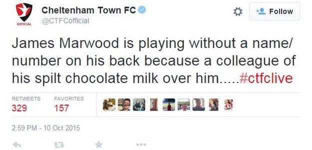 James Marwood shirt tweet