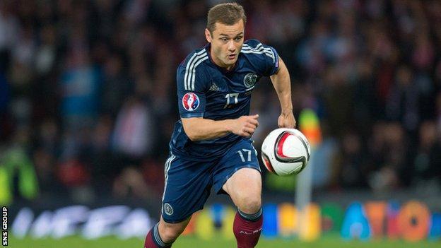 Scotland midfielder Shaun Maloney