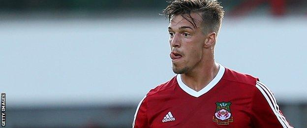 Wrexham striker James Gray