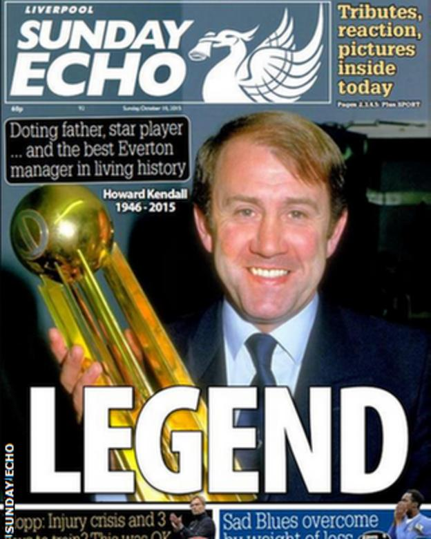 Sunday Echo's front page