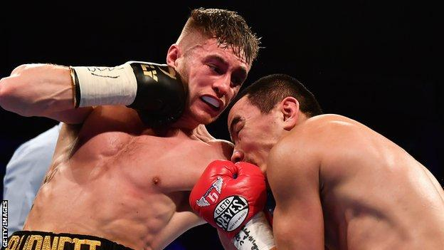Burnett became a unified bantamweight champion after beating Zhanat Zhakiyanov in October 2017