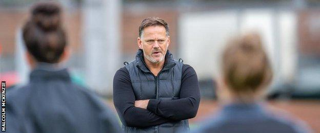 Glasgow City head coach Scott Booth