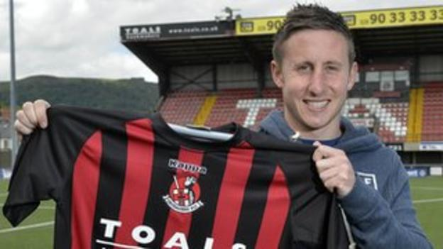 Michael Carvill joined the Crues from Belfast rivals Linfield