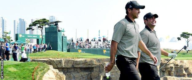 Jason Day and Steven Bowditch
