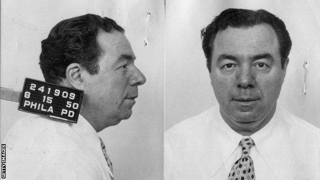 A mugshot of Frank 'Blinky' Palermo