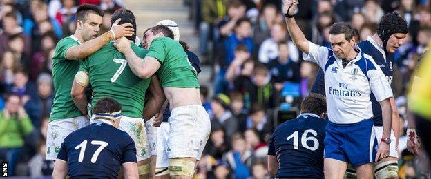 Ireland beat Scotland