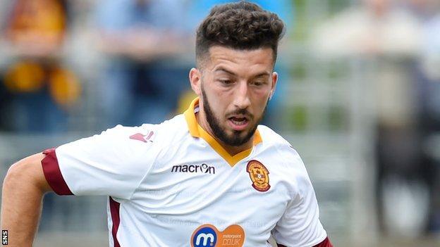 Motherwell midfielder Lee Lucas