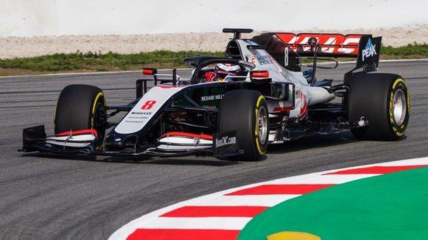 VF20 Haas F1 car