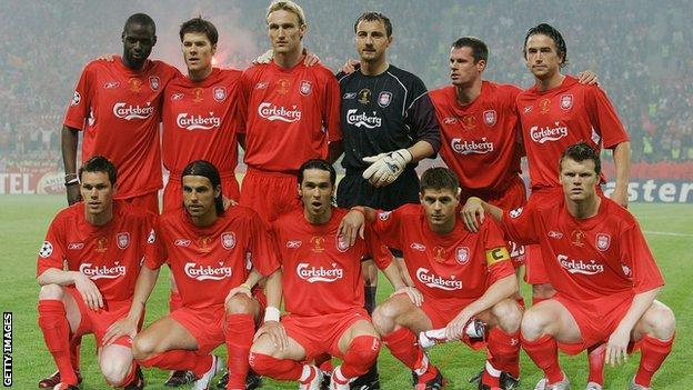 Liverpool's 2005 Champions League final winning side