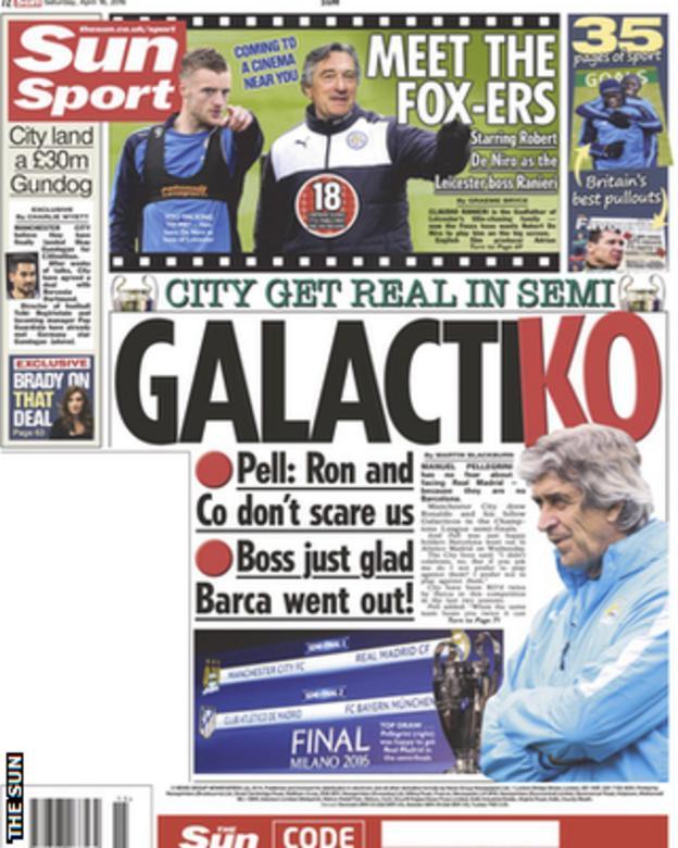 Saturday's The Sun back page