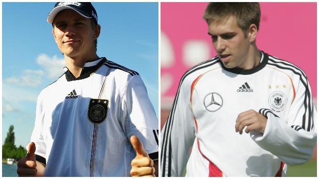 Nico Hulkenberg and Philipp Lahm