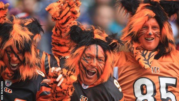 Cincinnati Bengals fans at Wembley