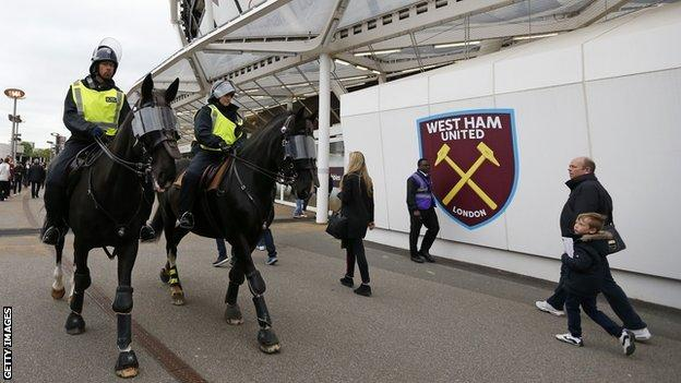 Police presence at the London Stadium