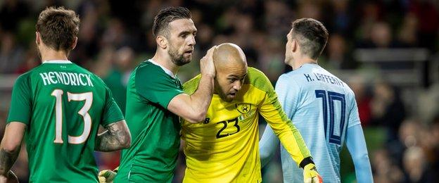 Darren Randolph's saves earned him the man of the match award