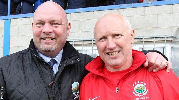 Brian McLoughlin had a successful period as assistant to David Jeffrey at Linfield