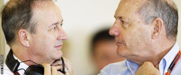 Jonathan Neale and Ron Dennis of McLaren