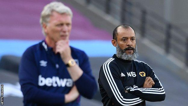 David Moyes and Nuno Espirito Santo