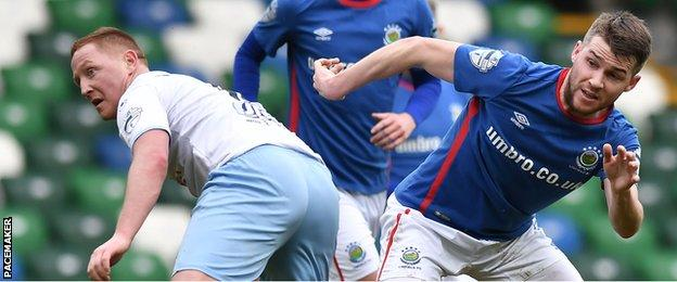 Linfield's win over Ballymena takes them up to third in the Premiership table