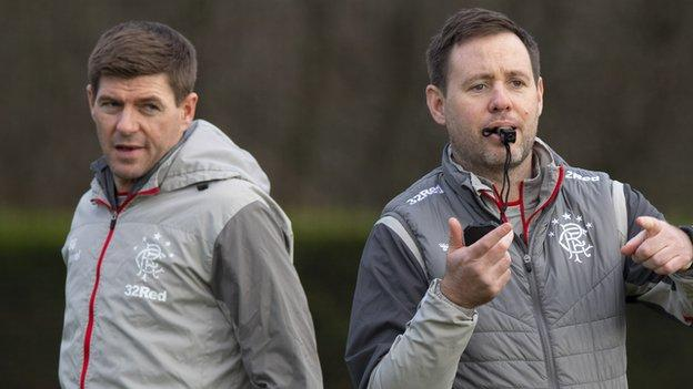 Steven Gerrard & Michael Beale