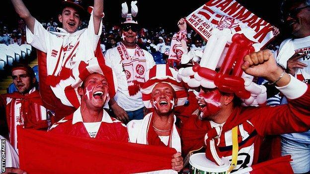 Tifosi della Danimarca a Euro 1996