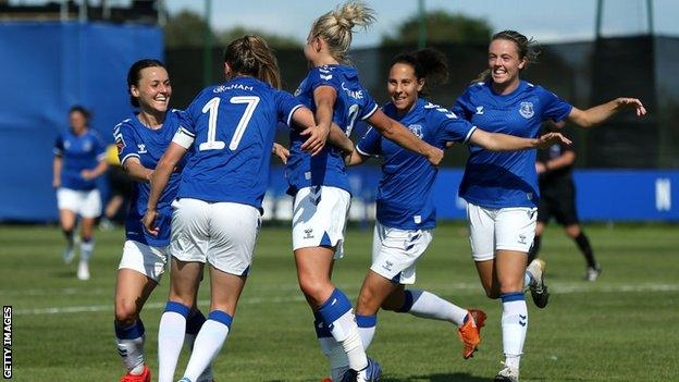 Izzy Christiansen celebrates scoring against Tottenham