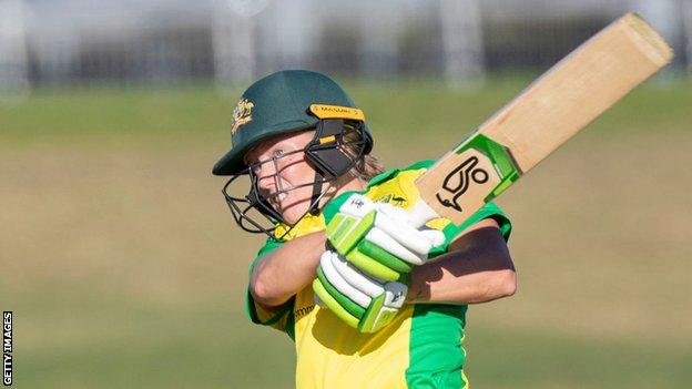 Alyssa Healy top scored for Australia against New Zealand