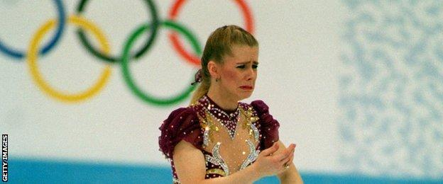 Harding finished in eighth place at the 1994 Olympic final