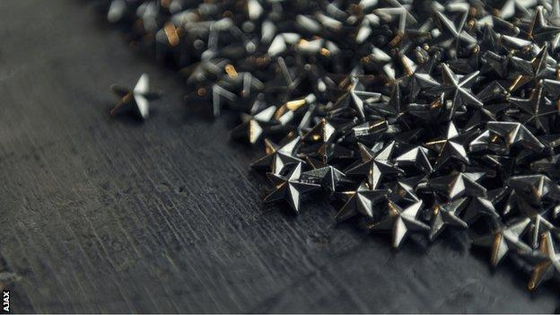Silver stars made from the trophy