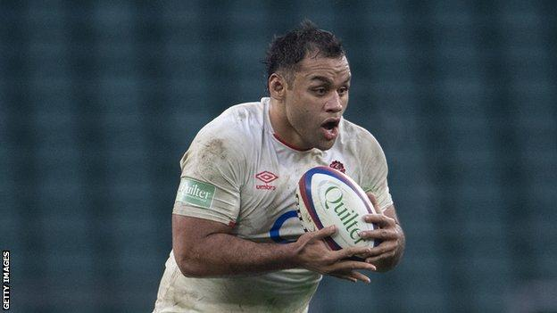 Billy Vunipola playing for England