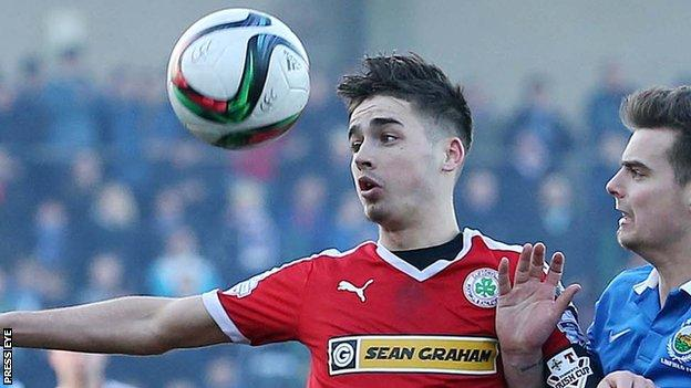 Cliftonville striker Jay Donnelly will celebrate his 21st birthday on 10 April