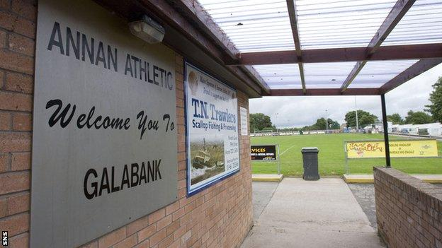 Annan are due to begin League Two action 11 days after their 6 October League Cup opener