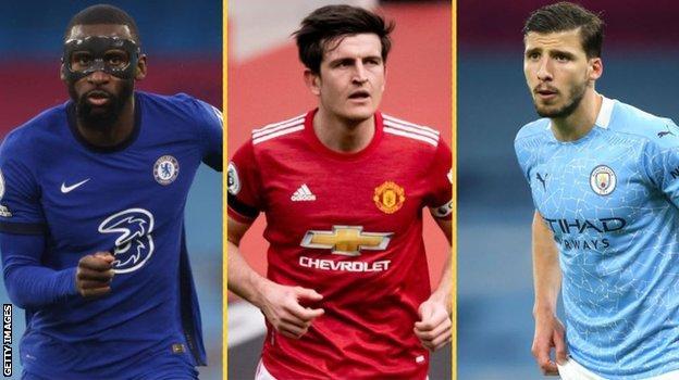 Antonio Rudiger (Chelsea), Harry Maguire (Man Utd), Ruben Dias (Man City)