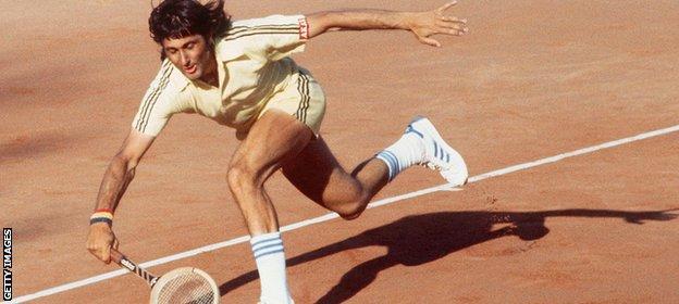 Former Romania men's tennis player Ilie Nastase