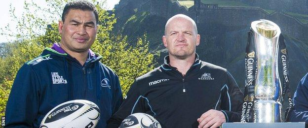 Connacht coach Pat Lam and Glasgow counterpart Gregor Townsend