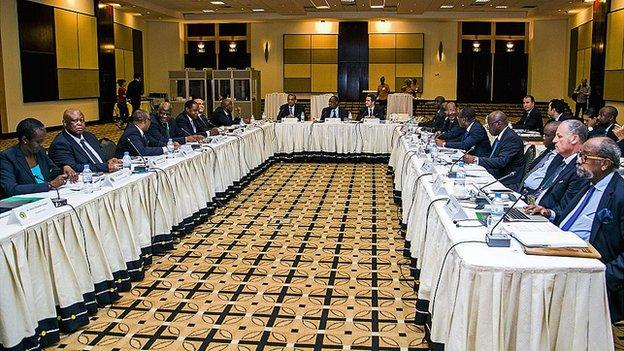 A meeting of the Confederation of African Football's executive committee