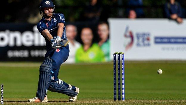 Scotland secured a T20 World Cup place last month with a play-off win over UAE in Dubai