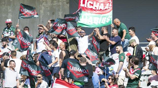 Lebanon fans were delighted by their team's performance against France