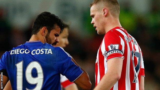 Diego Costa and Ryan Shawcross