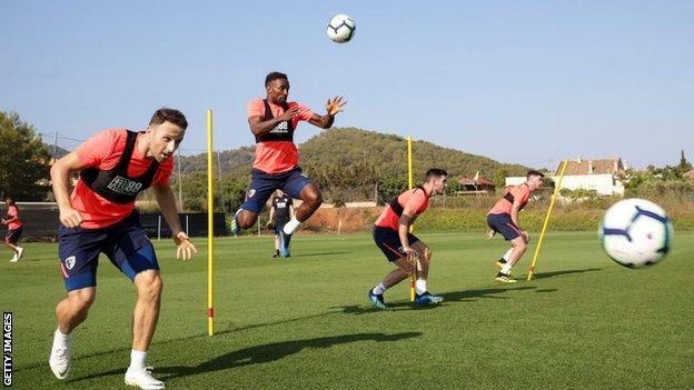 Bournemouth in pre-season training