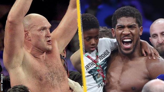 Tyson Fury and Anthony Joshua, pictured here, had hoped to fight each other this year