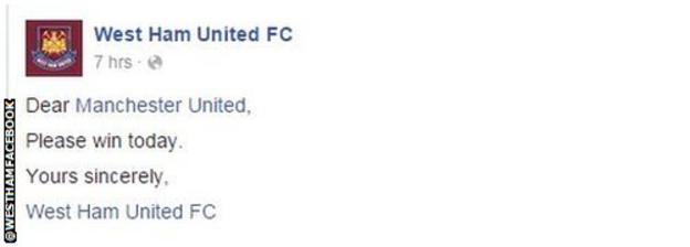 West Ham Facebook