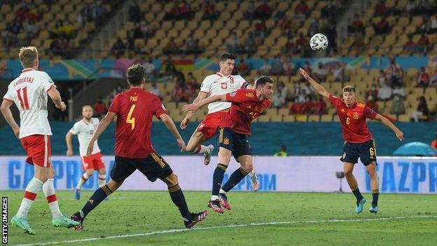 Robert Lewandowski scores Poland's equaliser
