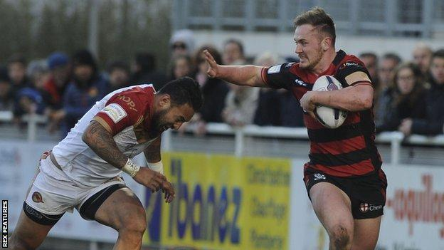 Ben Currie scored for Warrington in the victory at Catalans