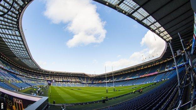 Scottish Rugby are keen to make Murrayfield a bio-safe hub